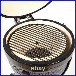 YNNI KAMADO 23.2 BLACK XL Chip Feeder Oven BBQ Grill Egg TQ0C23BL