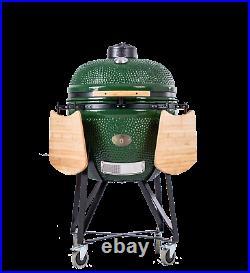 YNNI KAMADO 23.2 GREEN XL Chip Feeder Oven BBQ Grill Egg TQ0C23GR
