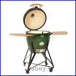 YNNI KAMADO 25.2 BLUE XXL Chip Feeder Oven BBQ Grill Ceramic Egg TQ0C25BU