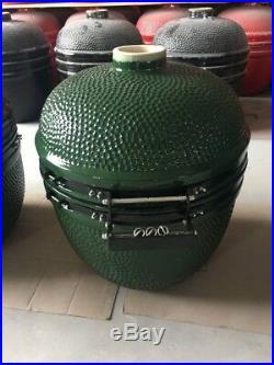 YNNI KAMADO 25 GREEN XL Chip Feeder Oven BBQ Grill Egg inc Trolley TQ0C25GR