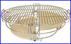 YNNI KAMADO 25 RED XL Chip Feeder Bundle BBQ Grill Egg Complete Kit TQTT25RE