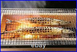 Yakitori BBQ Diatomite Charcoal Grill Barbecue Hibachi Konro Portable 54 x 23cm