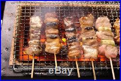 Yakitori BBQ Diatomite Charcoal Portable Grill Barbecue Konro 21 x 9 in. F/S NEW